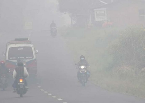 Nusabali.com - pekanbaru-berkabut-asap-4-pesawat-gagal-mendarat