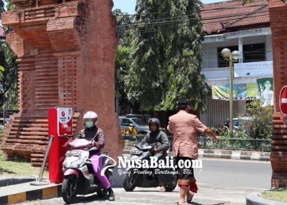 Nusabali.com - e-parkir-rsud-sanjiwani-mangkrak