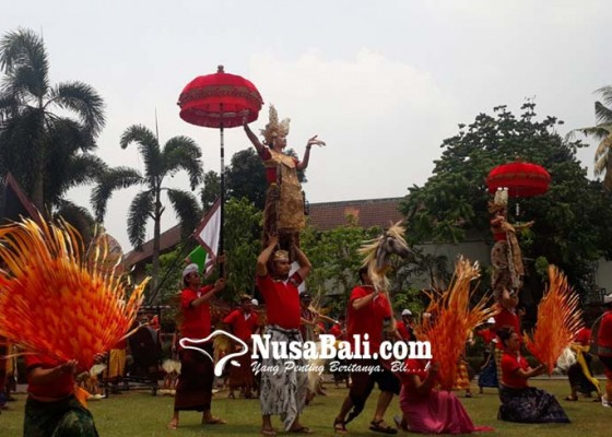 Nusabali.com - bali-tampilkan-candra-bhawa-di-pawai-pkn-hari-ini