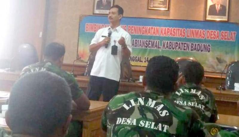 www.nusabali.com-bpbd-bekali-linmas-pelatihan-kebencanaan