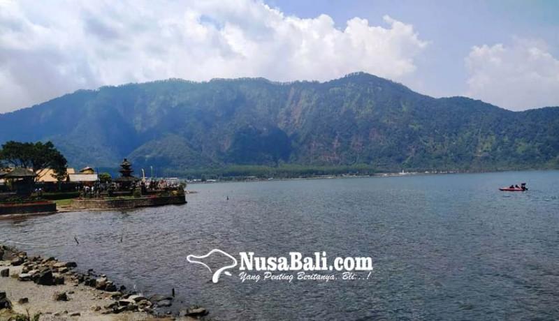 www.nusabali.com-kemarau-panjang-debit-air-danau-beratan-turun-10-meter