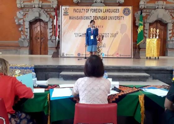 Nusabali.com - hmps-sastra-inggris-fba-unmas-gelar-english-speech-contest