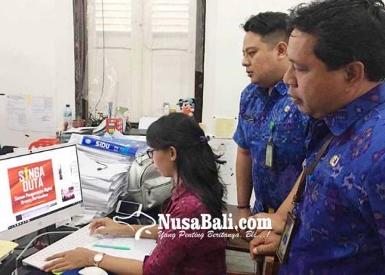 Nusabali.com - dinas-perkimta-launching-layanan-online