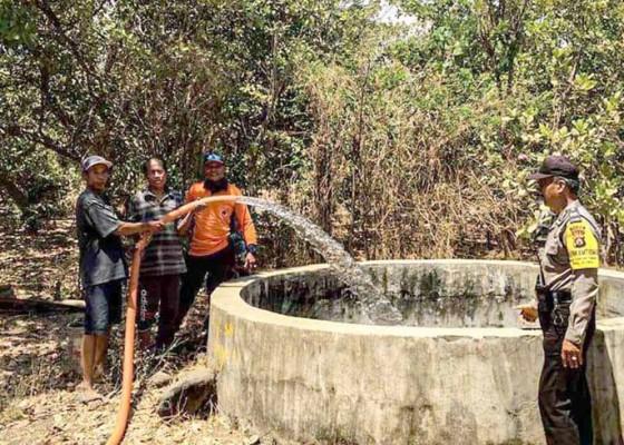 Nusabali.com - bpbd-distribusikan-40-ribu-liter-air-bersih