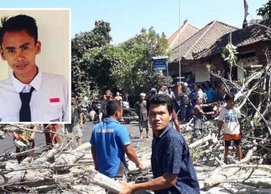 Nusabali.com - siswa-smk-tewas-tertimpa-pohon-santan-roboh-sepulang-sekolah