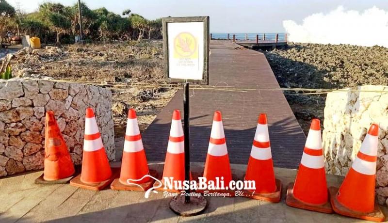 www.nusabali.com-kerap-terkena-deburan-ombak-spot-foto-di-waterblow-rusak