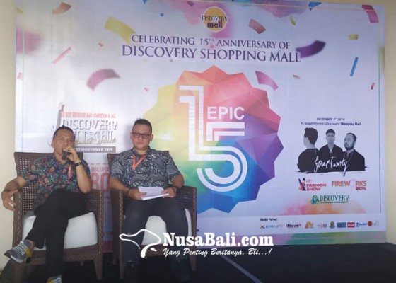 Nusabali.com - hut-ke-15-discovery-shopping-mall-banjir-diskon