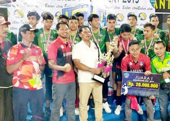 Nusabali.com - pbvsi-badung-juara-piala-bupati-lombok-tengah