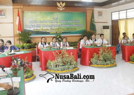 Nusabali.com - 12-tim-smp-beradu-lomba-anti-korupsi