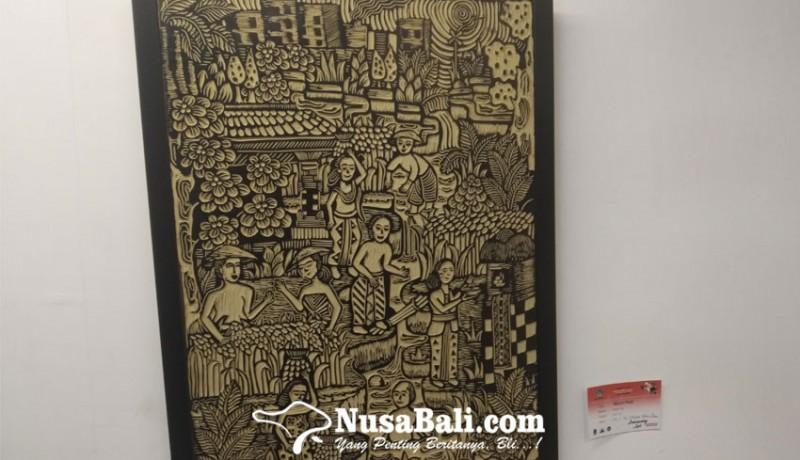 www.nusabali.com-erica-dewi-tampilkan-seni-lukis-berteknik-linocut