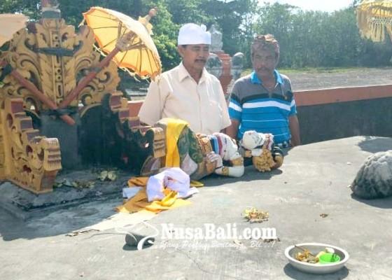 Nusabali.com - palinggih-kayu-duwi-di-pantai-desa-kerobokan-roboh