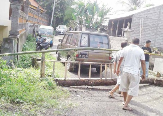Nusabali.com - krama-adat-mandung-blokade-jalan-perumahan