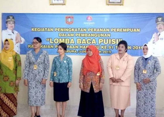 Nusabali.com - dinas-pppa-gelar-lomba-baca-puisi-antarorganisasi-wanita