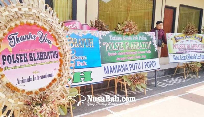 www.nusabali.com-polsek-blahbatuh-banjir-karangan-bunga