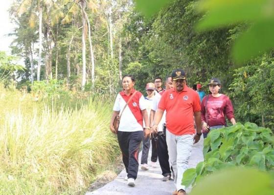 Nusabali.com - proyek-jalan-usaha-tani-retak-retak