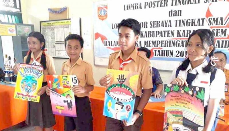 Nusabali Com Dinas Kesehatan Gelar Lomba Poster Hiv Aids
