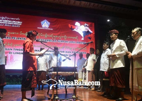 Nusabali.com - koster-lantik-24-pejabat-eselon-ii-opd-nomenklatur-baru
