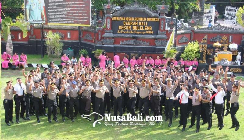 www.nusabali.com-tahun-baru-96-personel-polres-buleleng-naik-pangkat