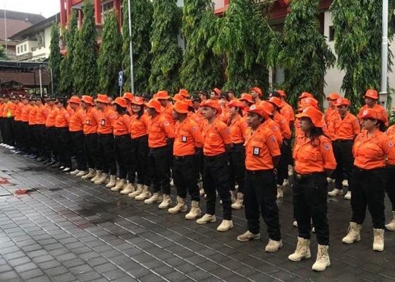 Nusabali.com - bpbd-bali-gelar-apel-kesiapan-personel-dan-peralatan-logistik