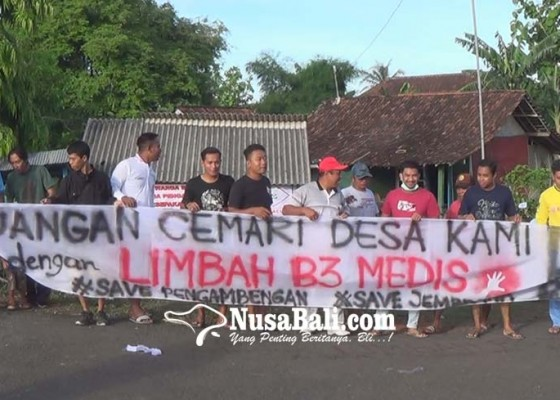 Nusabali.com - warga-pengambengan-tolak-pabrik-limbah-b3-medis