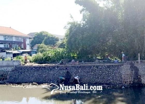 Nusabali.com - sedimentasi-selesai-diangkat-tembok-tukad-mati-tuntas-digarap