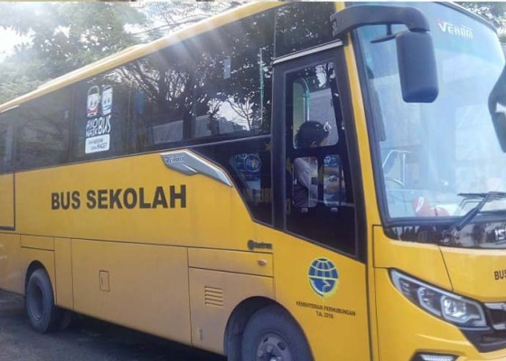 Nusabali.com - bus-sekolah-bantuan-kemenhub-mangkrak