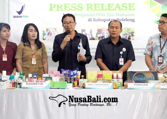 Nusabali.com - di-jembrana-loka-pom-buleleng-sita-ribuan-obat-dan-kosmetik-berbahaya