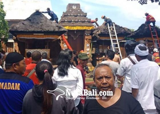 Nusabali.com - pura-majapahit-terbakar-tujuh-pragina-kerauhan