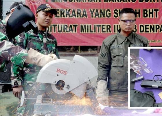 Nusabali.com - odmil-iii-13-denpasar-musnahkan-senjatapistol-rakitan-dan-peluru