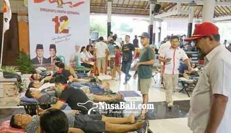 www.nusabali.com-gerindra-klungkung-gelar-donor-darah