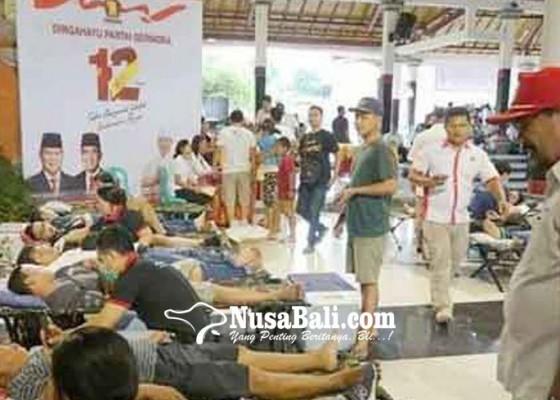 Nusabali.com - gerindra-klungkung-gelar-donor-darah