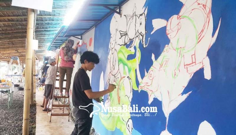 www.nusabali.com-lomba-mural-edukasi-lingkungan-lewat-gambar