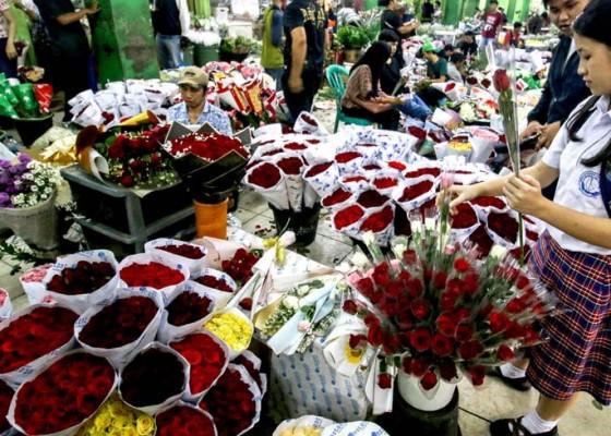 Nusabali.com - harga-bunga-mawar-naik-jelang-valentine