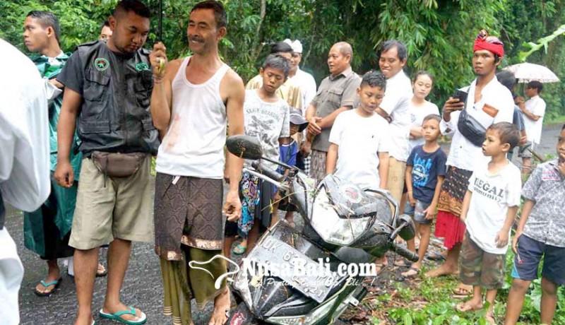 www.nusabali.com-pengendara-motor-tertimpa-pohon-aren