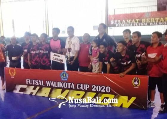 Nusabali.com - damar-cakti-juara-futsal-walikota-cup