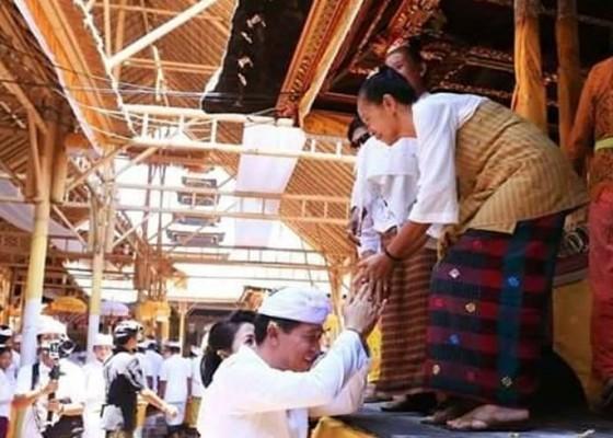 Nusabali.com - ribuan-umat-hadiri-mupuk-karya-agung-di-pura-dasar-buana-gelgel