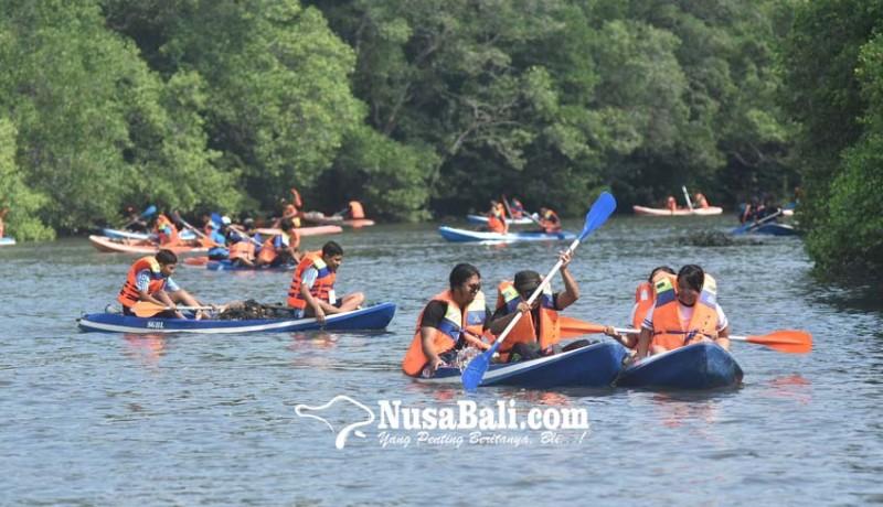 www.nusabali.com-susur-mangrove-kumpulkan-17-ton-sampah