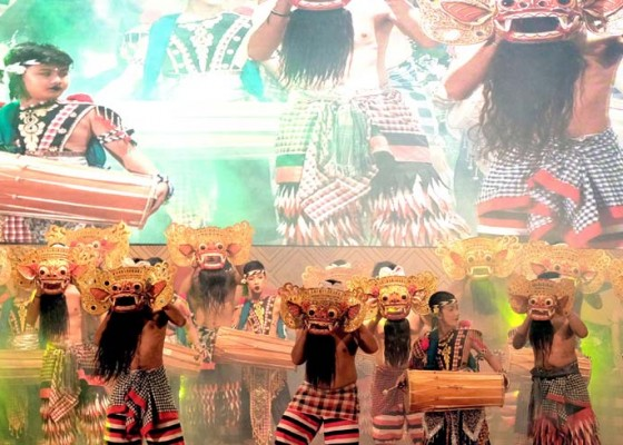 Nusabali.com - pementasan-garapan-rahayu-guna-kaya-puncaki-perayaan-232-tahun-kota-denpasar