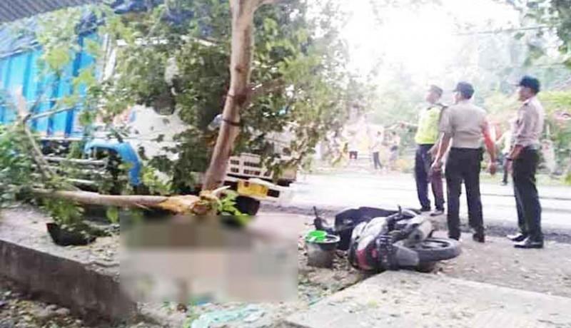 www.nusabali.com-sopir-diduga-ngantuk-truk-seruduk-pemotor-hingga-tewas