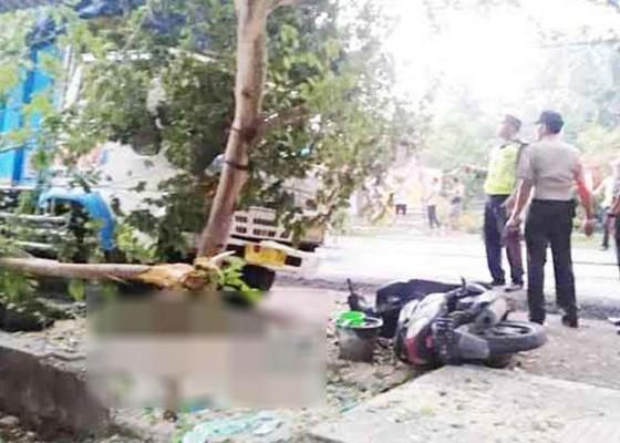 Nusabali.com - sopir-diduga-ngantuk-truk-seruduk-pemotor-hingga-tewas