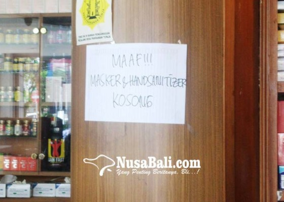 Nusabali.com - apotek-di-denpasar-kehabisan-stok-masker