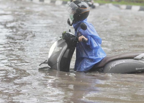 Nusabali.com - hujan-deras-sejumlah-titik-di-denpasar-tergenang