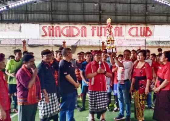 Nusabali.com - wabup-tabanan-buka-turnamen-futsal-flobamora