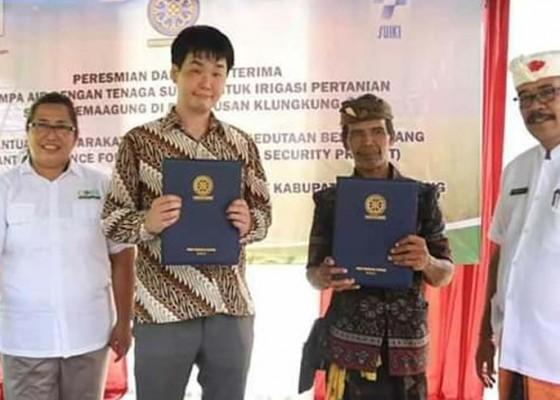 Nusabali.com - subak-semaagung-terima-bantuan-pompa-dari-jepang