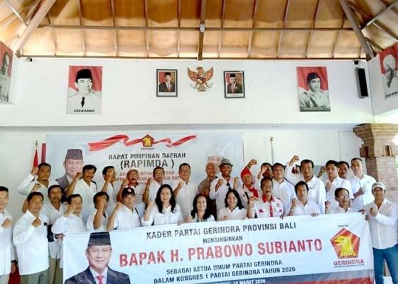 Nusabali.com - gerindra-bali-dukung-prabowo-calon-ketum-gerindra