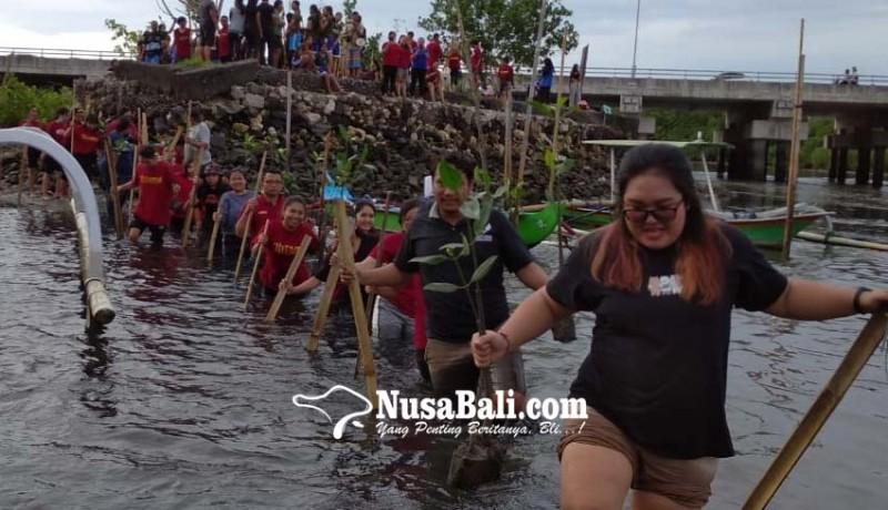 www.nusabali.com-sambut-dies-natalis-ke-12-stiki-lakukan-penanaman-mangrove