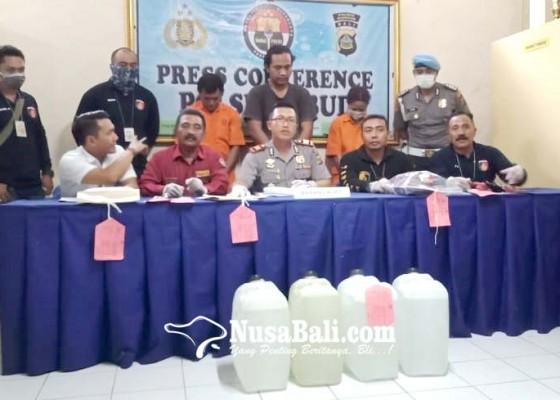 Nusabali.com - polsek-ubud-sita-30-liter-arak-siap-edar