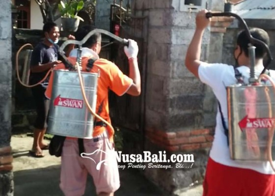 Nusabali.com - banjar-berswadaya-spraying-rumah-warga