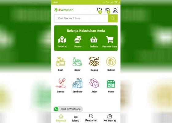 Nusabali.com - kurangi-kerumunan-pasar-phula-kerti-gunakan-layanan-e-semeton