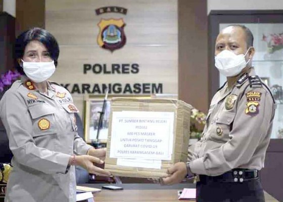 Nusabali.com - polres-terima-bantuan-600-masker